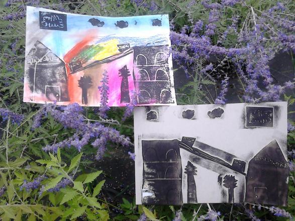 Francas-Atelier colla-graphie avec Pau, ville d'art et d'histoire