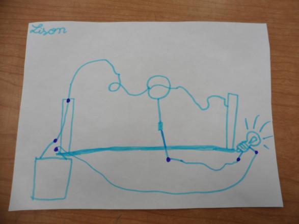 Schéma électrique du jeu réalisé par un des enfants.