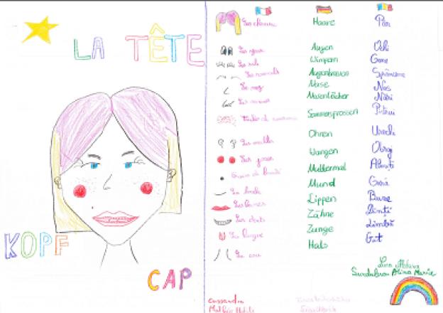 Un dessin de l'atelier linguistique