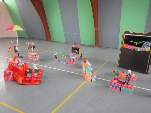 les marionnettes réalisées par les enfants