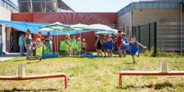 Jeux d'eau à l'ALSH de Pontigny